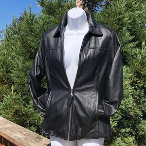 Vintage Wilsons Leather Coat W/ zipout thermal